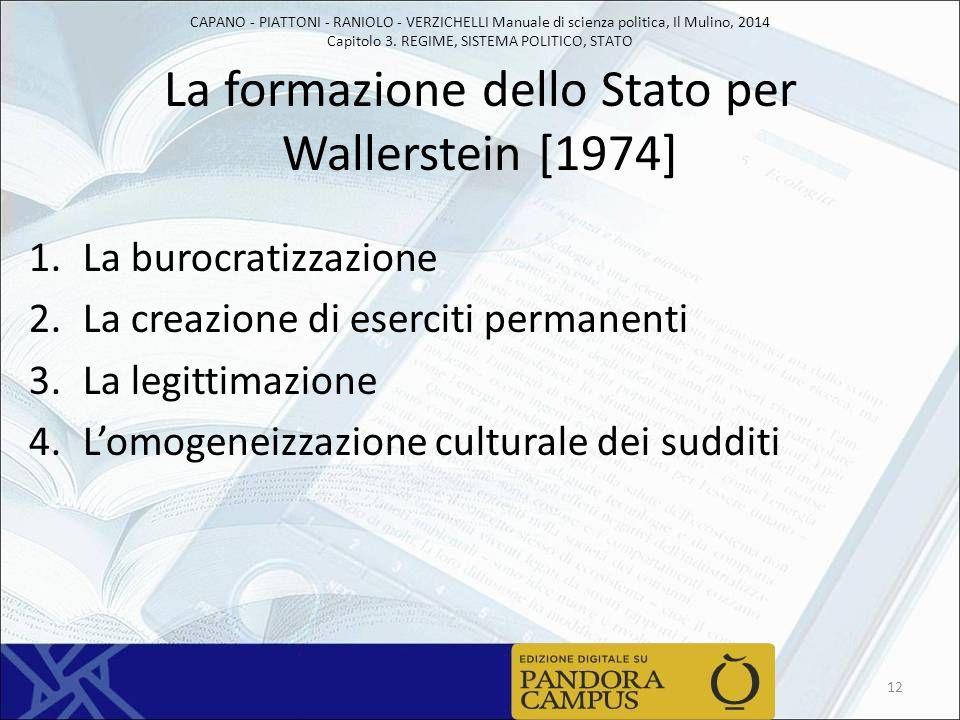 CAPANO - PIATTONI - RANIOLO - VERZICHELLI Manuale di scienza politica, Il Mulino, 2014 Capitolo 3. REGIME, SISTEMA POLITICO, STATO La formazione dello