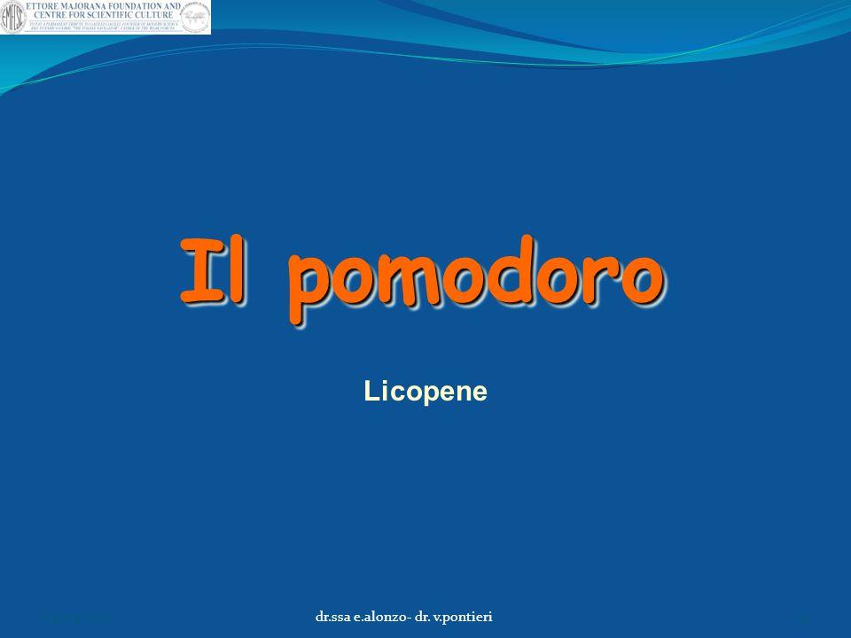 Il pomodoro Licopene 04/04/2015dr.ssa e.alonzo- dr. v.pontieri33