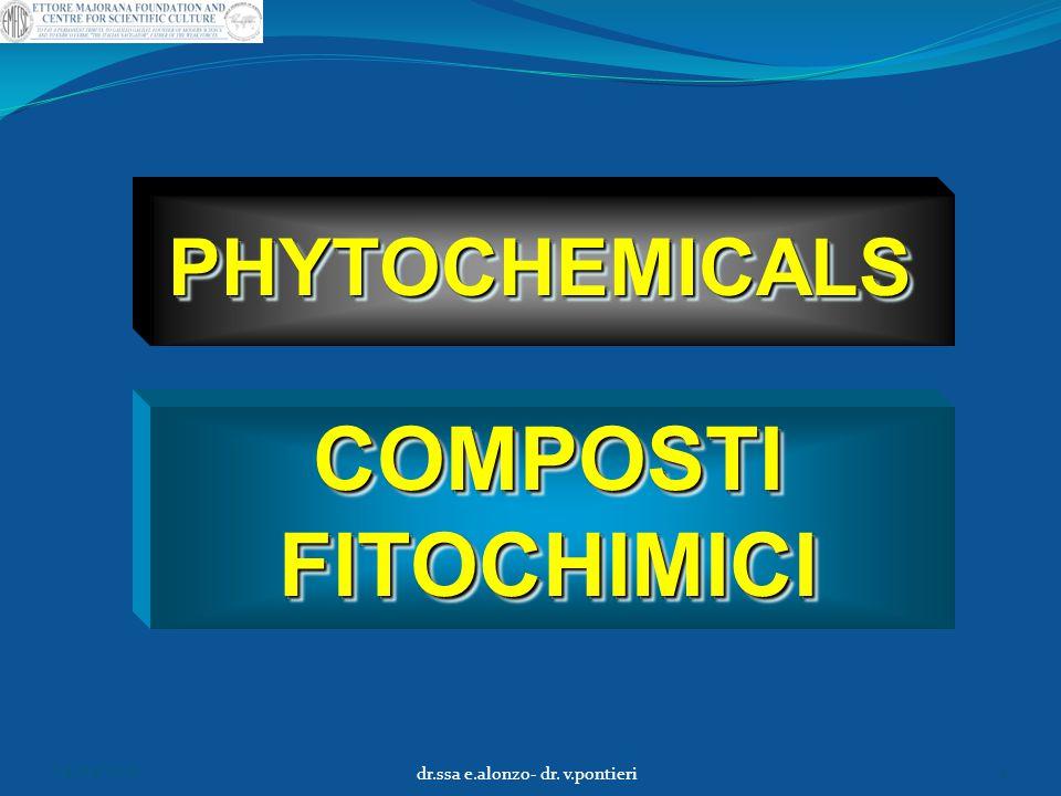 COMPOSTI FITOCHIMICI PHYTOCHEMICALSPHYTOCHEMICALS 04/04/2015 dr.ssa e.alonzo- dr. v.pontieri 4