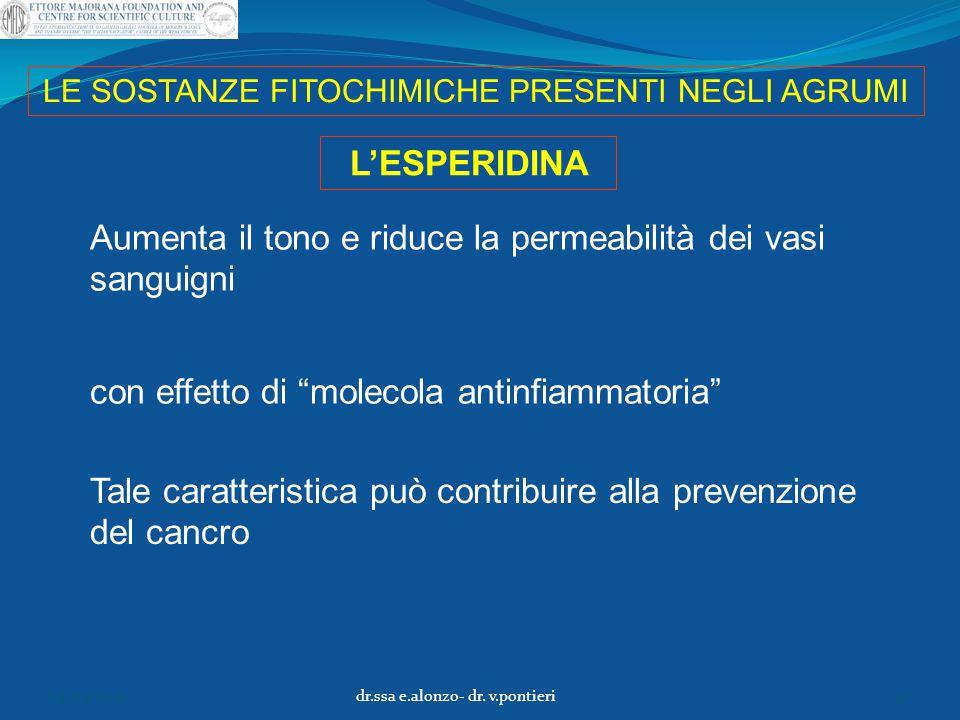 """LE SOSTANZE FITOCHIMICHE PRESENTI NEGLI AGRUMI Aumenta il tono e riduce la permeabilità dei vasi sanguigni L'ESPERIDINA con effetto di """"molecola antin"""