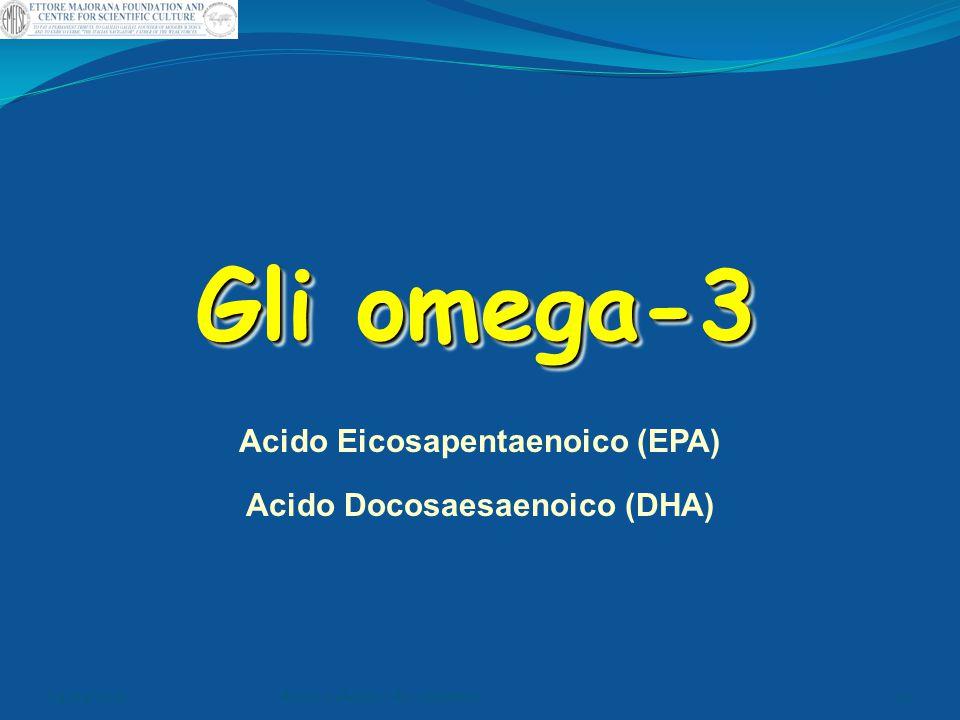 Gli omega-3 Acido Eicosapentaenoico (EPA) Acido Docosaesaenoico (DHA) 04/04/2015dr.ssa e.alonzo- dr. v.pontieri49