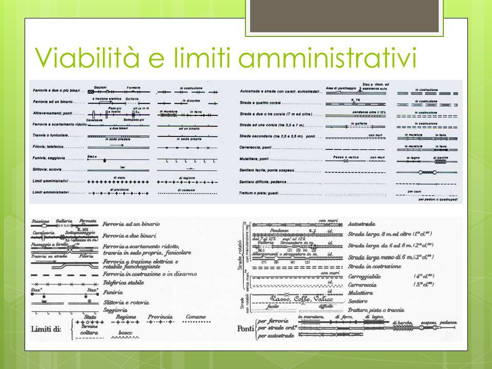 Viabilità e limiti amministrativi
