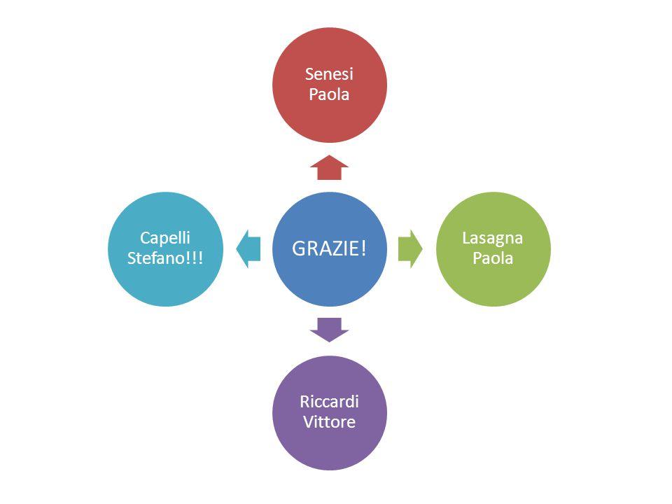 GRAZIE! Senesi Paola Lasagna Paola Riccardi Vittore Capelli Stefano!!!