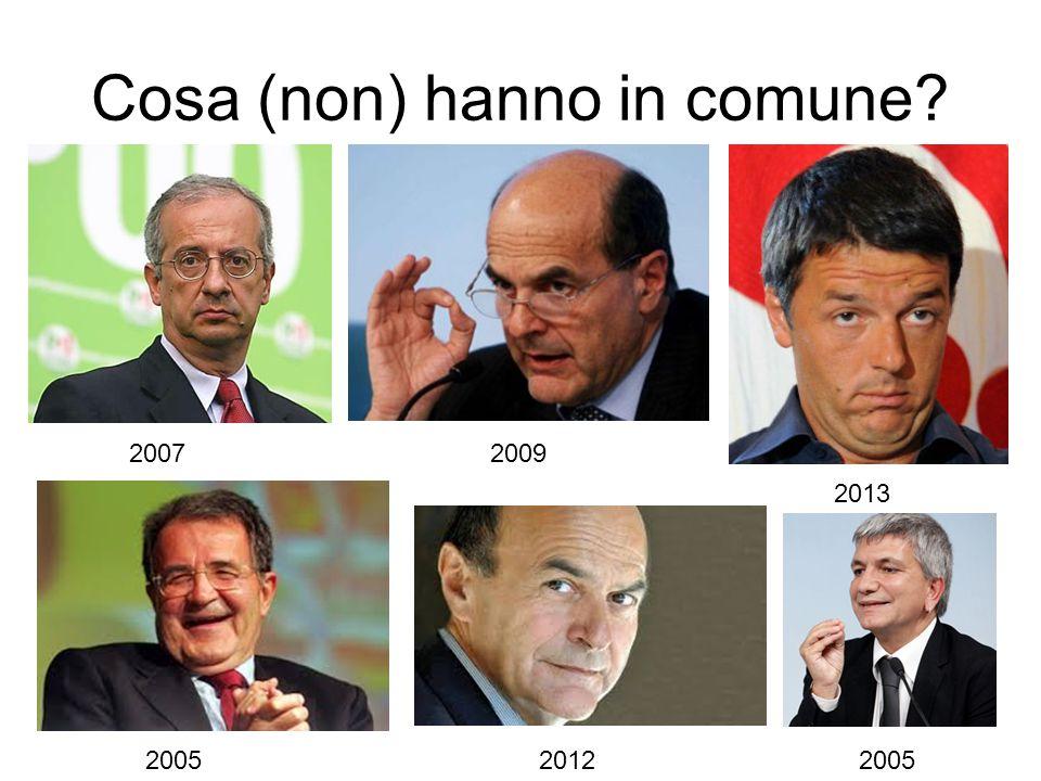 Cosa (non) hanno in comune 20072009 2013 200520122005