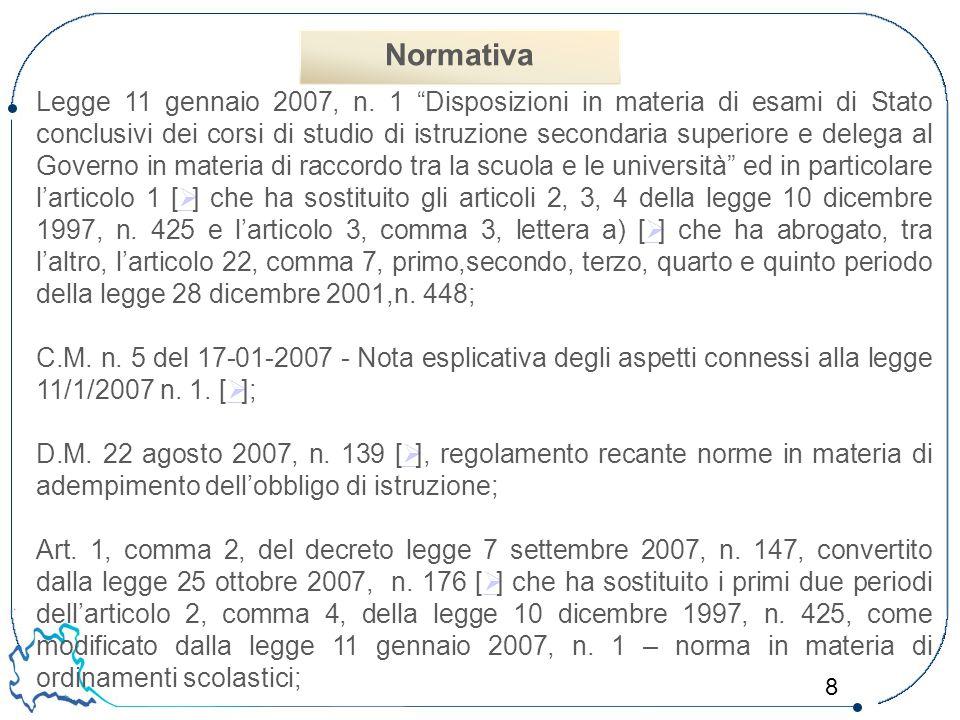 19 V.Le prove scritte Normativa