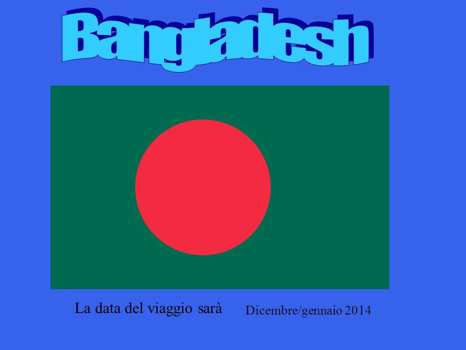 La data del viaggio sarà Dicembre/gennaio 2014