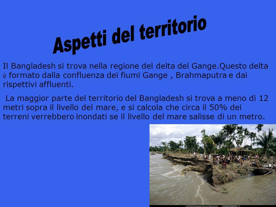Il Bangladesh si trova nella regione del delta del Gange.Questo delta è formato dalla confluenza dei fiumi Gange, Brahmaputra e dai rispettivi affluen