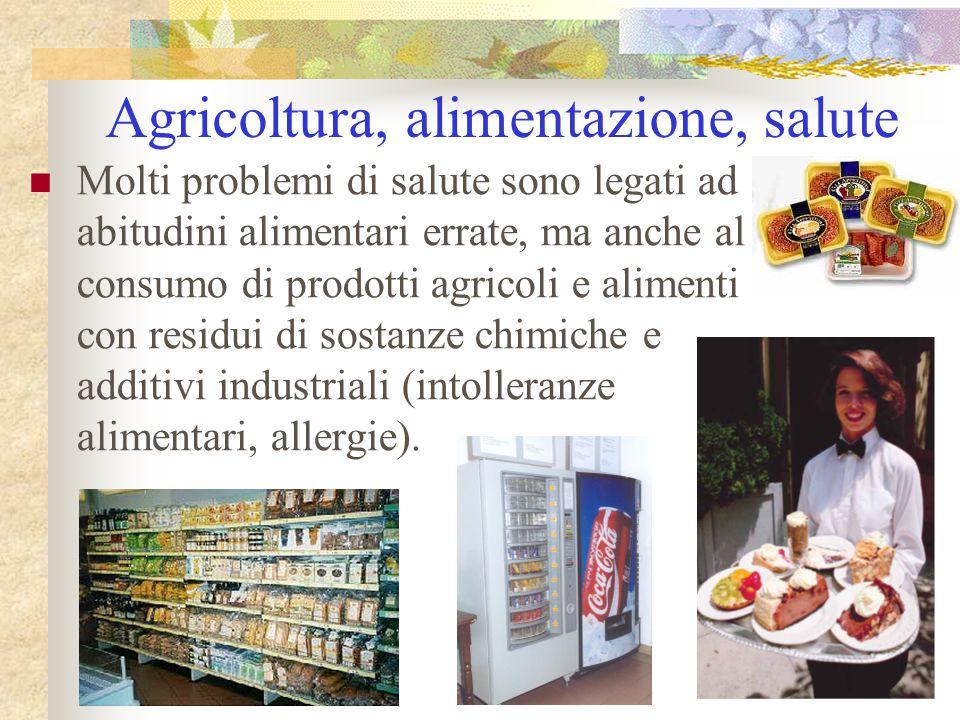 Agricoltura, alimentazione, salute Molti problemi di salute sono legati ad abitudini alimentari errate, ma anche al consumo di prodotti agricoli e ali