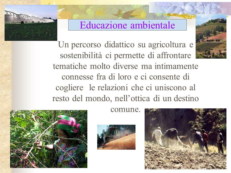 Un percorso didattico su agricoltura e sostenibilità ci permette di affrontare tematiche molto diverse ma intimamente connesse fra di loro e ci consen