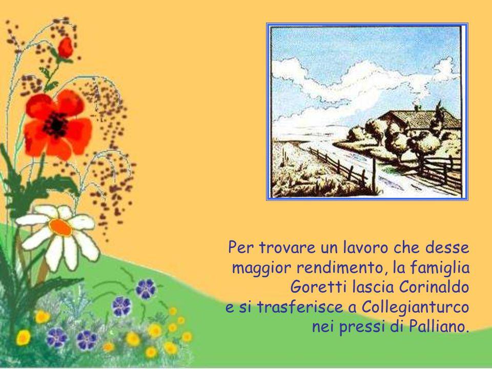 Devota fin dall'infanzia della Vergine Santissima, visitava spesso una chiesetta campestre dedicata alla Madonna detta dell'Immantellata.