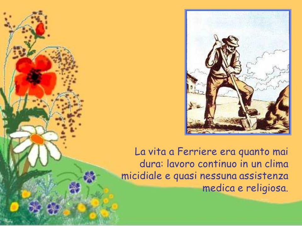 """A Ferriere la famiglia Goretti andò ad abitare in un antico cascinale detto """"Cascina antica"""": con loro viveva la famiglia Serenelli alla quale erano u"""