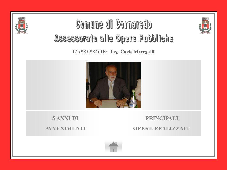 L'ASSESSORE: Ing. Carlo Meregalli PRINCIPALI OPERE REALIZZATE 5 ANNI DI AVVENIMENTI