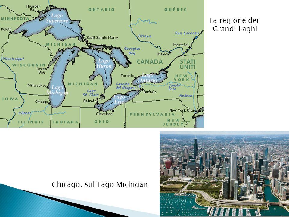 Chicago, sul Lago Michigan La regione dei Grandi Laghi