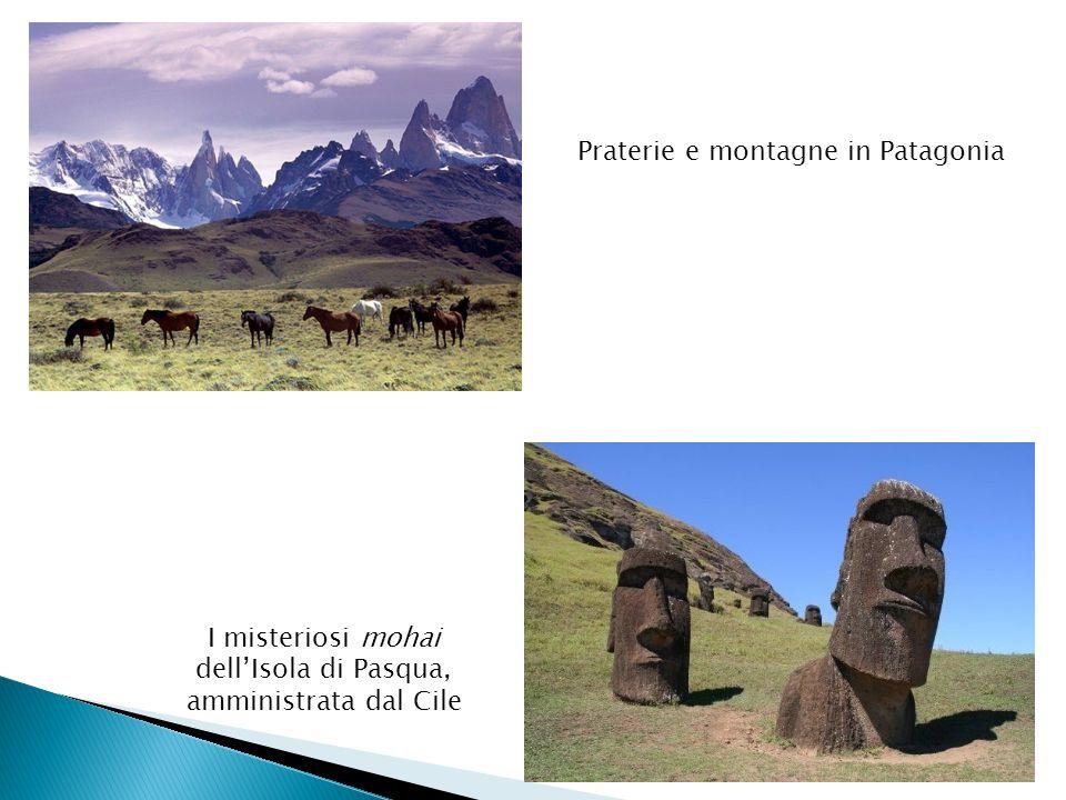 Praterie e montagne in Patagonia I misteriosi mohai dell'Isola di Pasqua, amministrata dal Cile