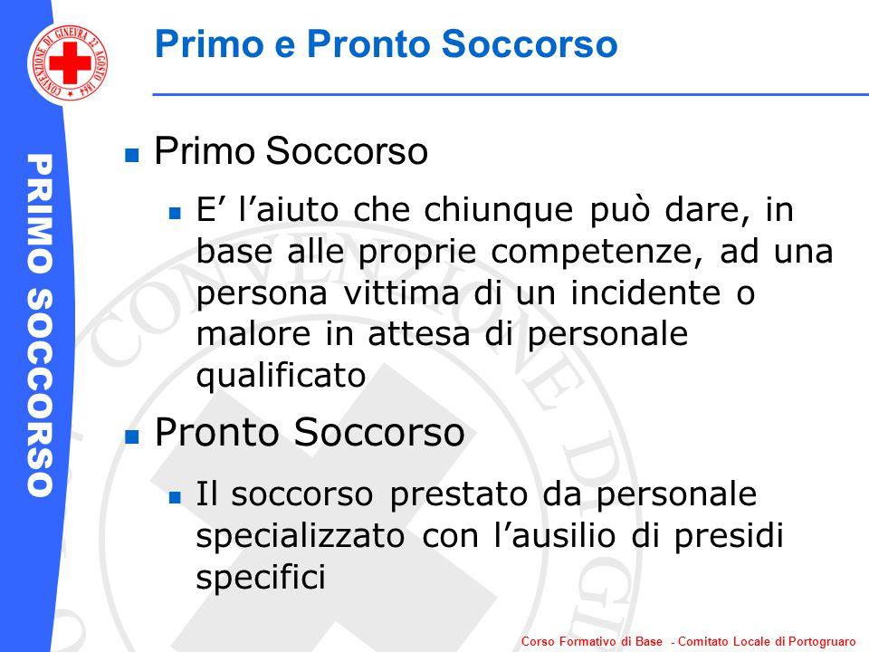PRIMO SOCCORSO Corso Formativo di Base - Comitato Locale di Portogruaro Posizione Laterale di Sicurezza Da che parte giro se.