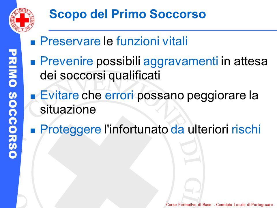 PRIMO SOCCORSO Corso Formativo di Base - Comitato Locale di Portogruaro Prima di intervenire...