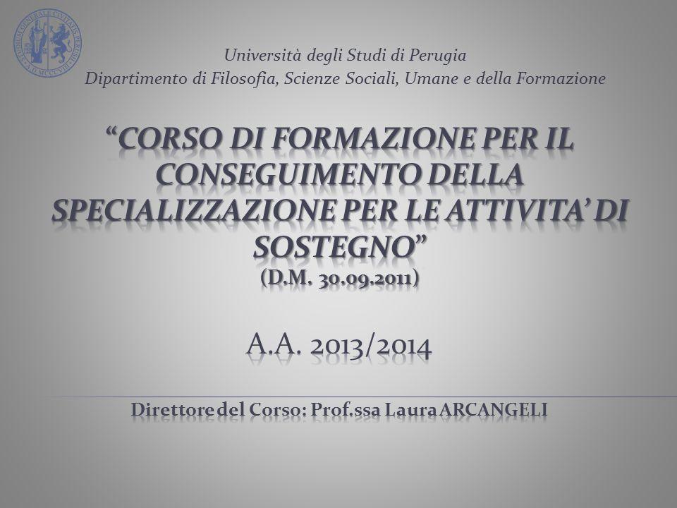 Università degli Studi di Perugia Dipartimento di Filosofia, Scienze Sociali, Umane e della Formazione