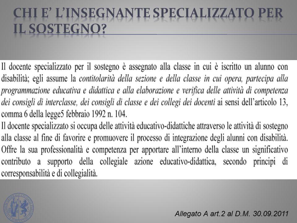 Allegato A art.2 al D.M. 30.09.2011