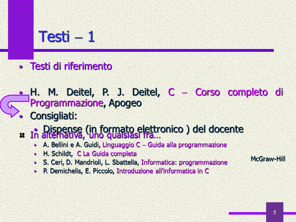 6 Testi  2 Testi di consultazione A.C. Batini, L.