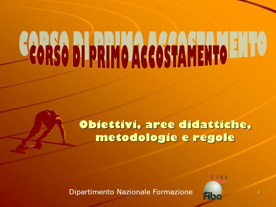 1 Obiettivi, aree didattiche, metodologie e regole Dipartimento Nazionale Formazione