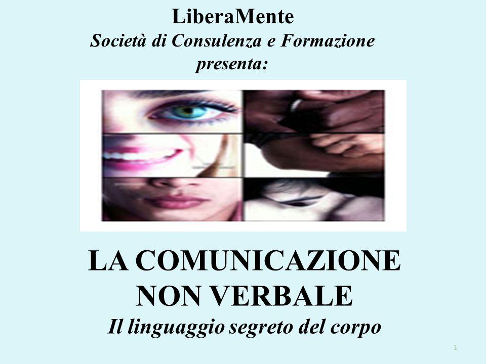 LiberaMente Società di Consulenza e Formazione presenta: LA COMUNICAZIONE NON VERBALE Il linguaggio segreto del corpo 1