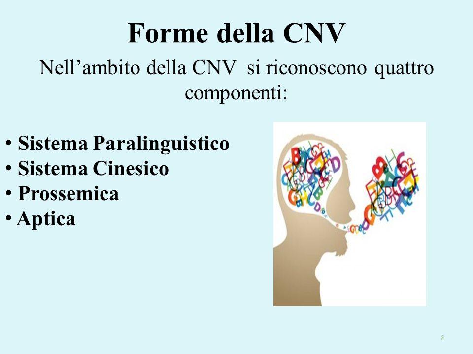 Campi di applicazione della CNV Colloquio di lavoro Gerarchie Rapporto medico-paziente Insegnamento Comunicazione politica Criminologia 19
