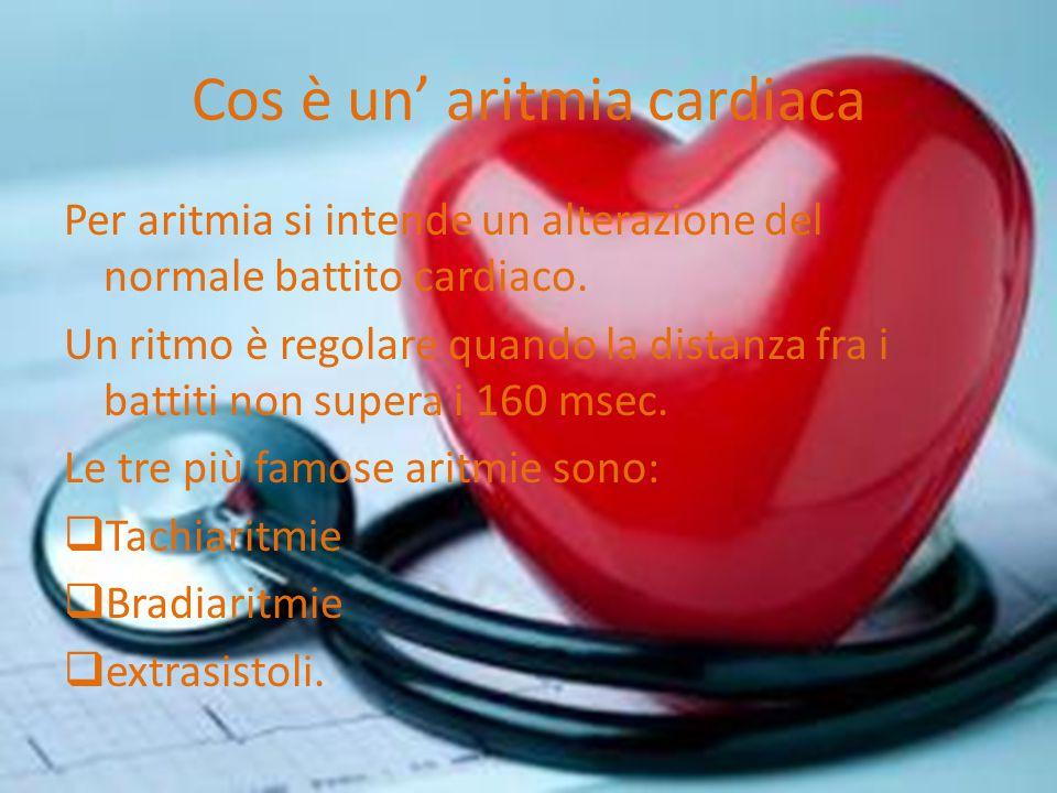 Cos è un' aritmia cardiaca Per aritmia si intende un alterazione del normale battito cardiaco.