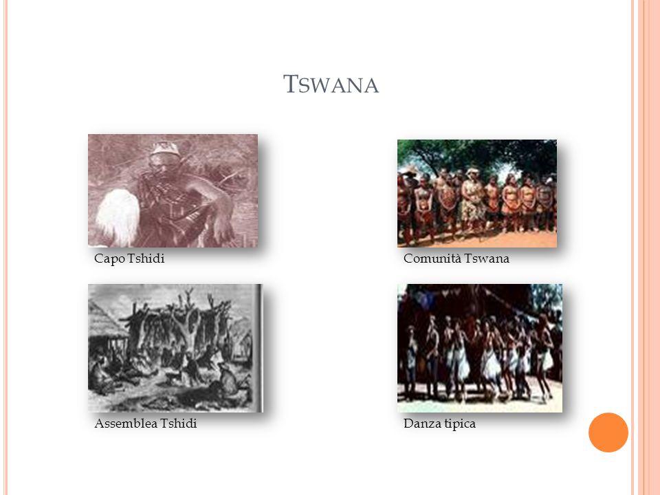 T SWANA Capo Tshidi Assemblea Tshidi Comunità Tswana Danza tipica