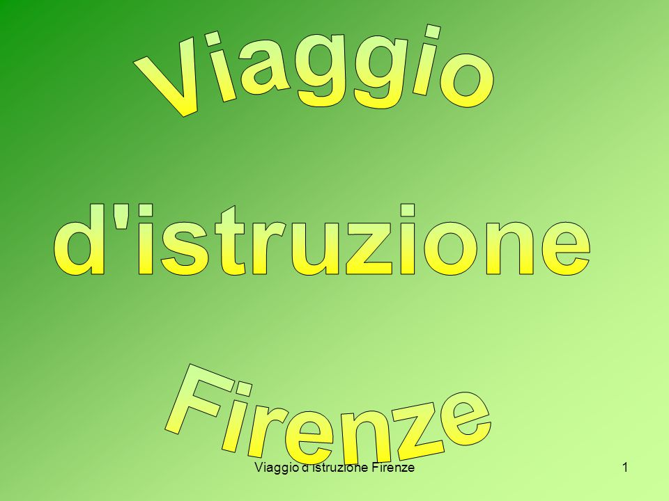 Viaggio d istruzione Firenze1