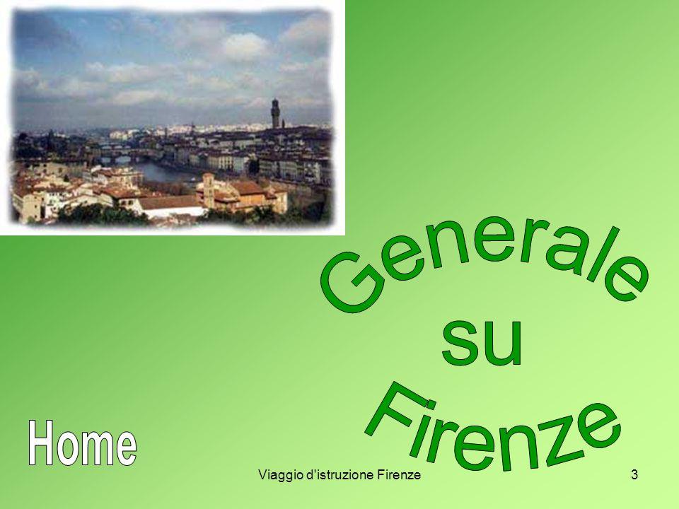 4 Generale su Firenze Firenze, città di circa mezzo milione di abitanti, sorge in riva all Arno, tra il mare Tirreno e l Adriatico, quasi al centro della penisola italiana.