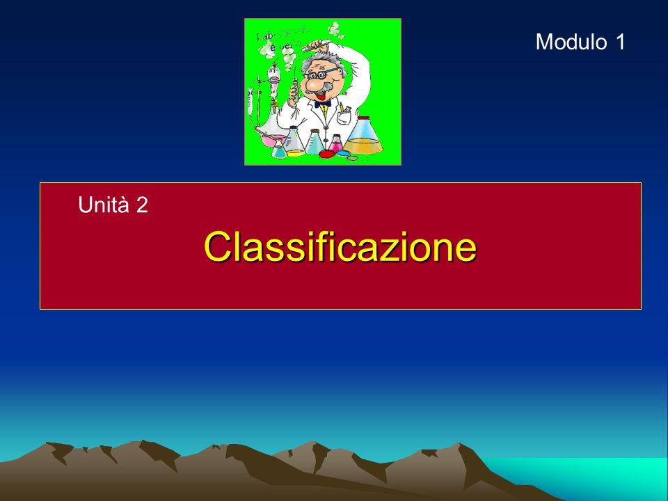Classificazione Unità 2 Modulo 1