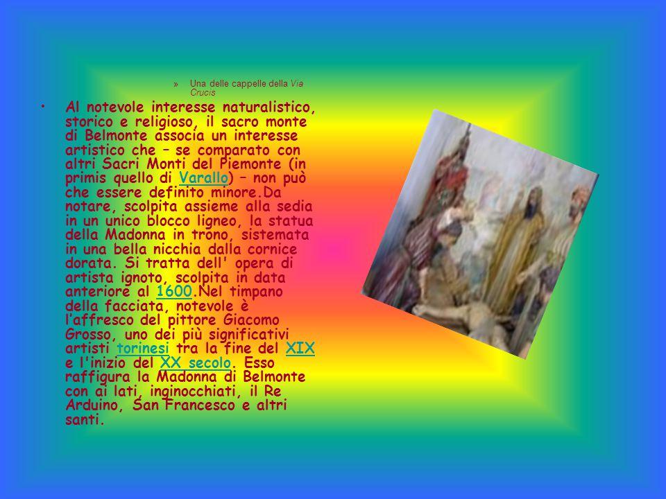 »Una delle cappelle della Via Crucis Al notevole interesse naturalistico, storico e religioso, il sacro monte di Belmonte associa un interesse artisti
