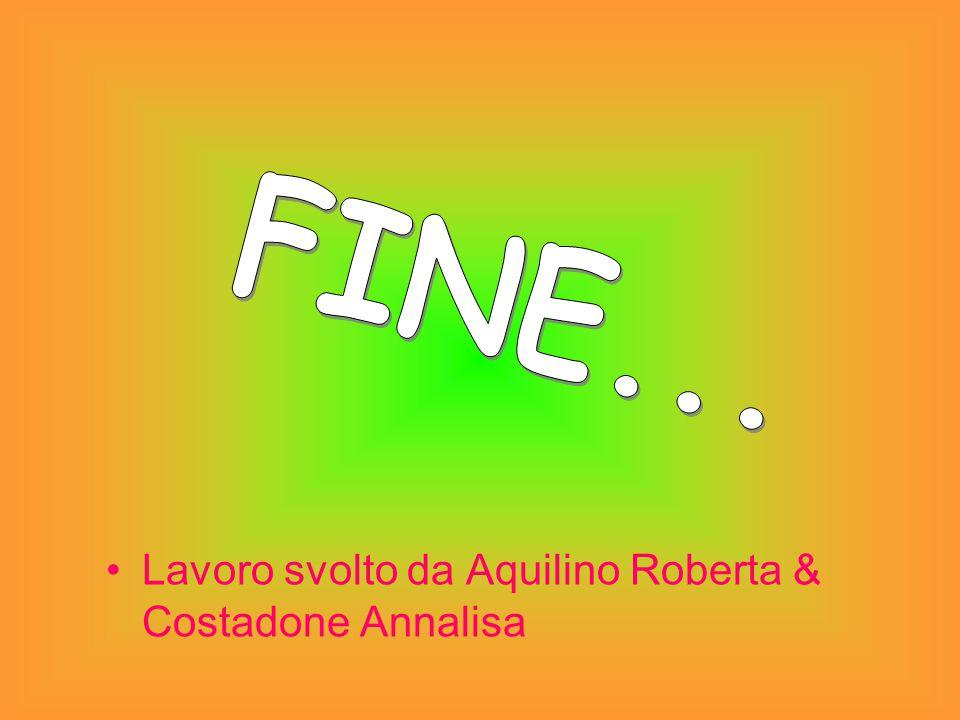 Lavoro svolto da Aquilino Roberta & Costadone Annalisa