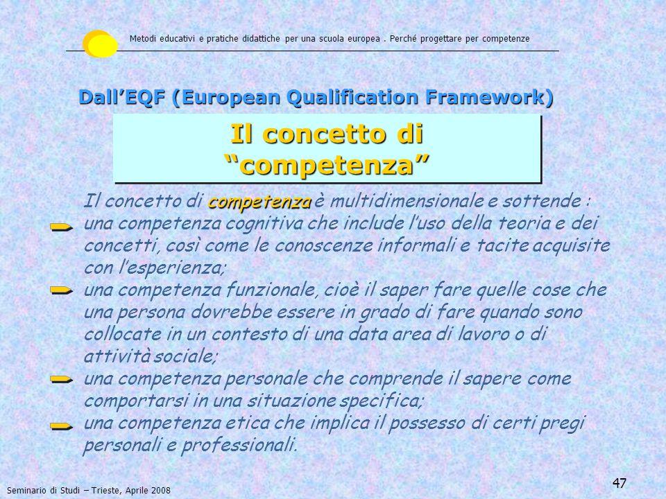 48 qualificazione Si ottiene una qualificazione quando un ente competente determina che l'apprendimento di un individuo ha raggiunto uno specifico standard di conoscenza, abilità e competenze.