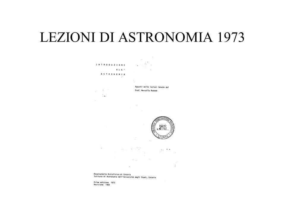 LEZIONI DI ASTRONOMIA 1973