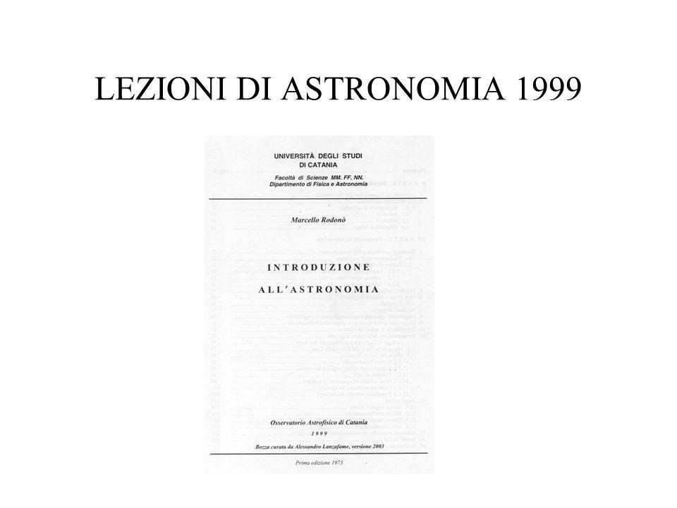 LEZIONI DI ASTRONOMIA 1999
