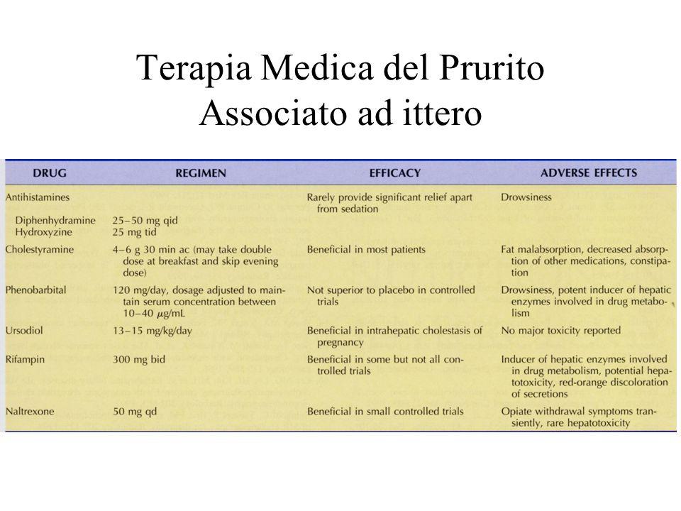 Terapia Medica del Prurito Associato ad ittero