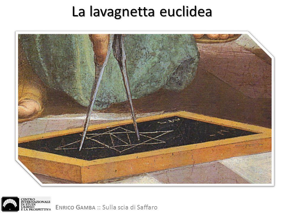 E NRICO G AMBA :: Sulla scia di Saffaro La lavagnetta euclidea