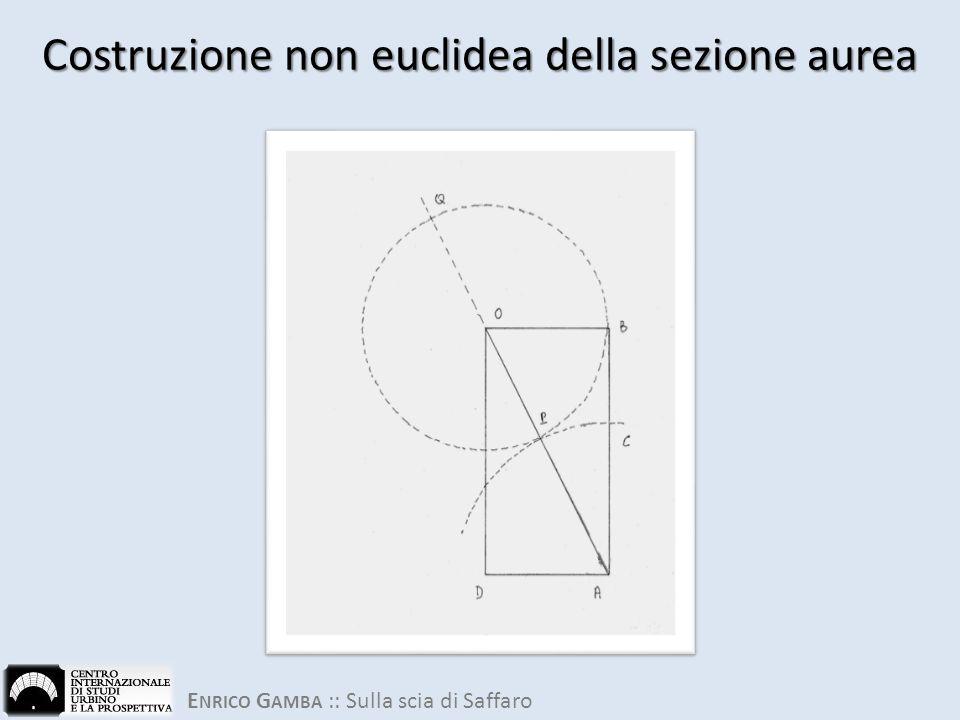 E NRICO G AMBA :: Sulla scia di Saffaro Costruzione non euclidea della sezione aurea