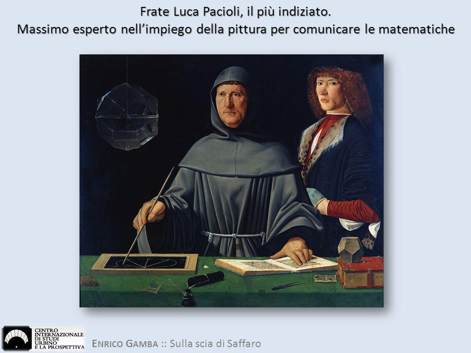 E NRICO G AMBA :: Sulla scia di Saffaro Frate Luca Pacioli, il più indiziato.