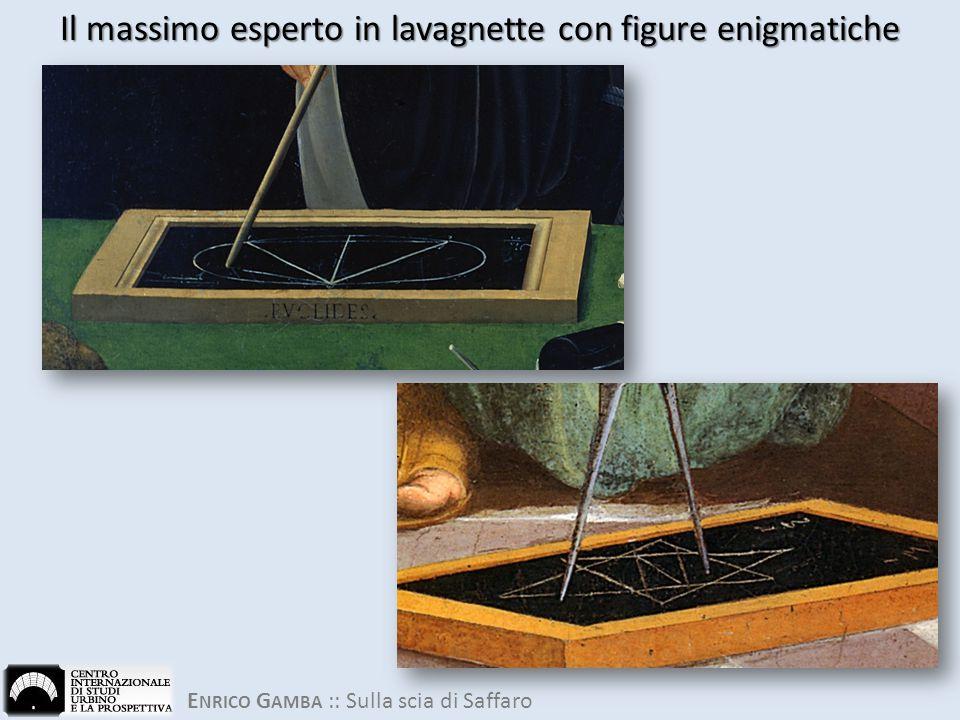 E NRICO G AMBA :: Sulla scia di Saffaro Il massimo esperto in lavagnette con figure enigmatiche