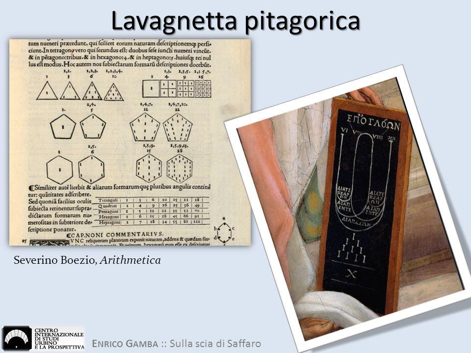 Lavagnetta pitagorica Severino Boezio, Arithmetica
