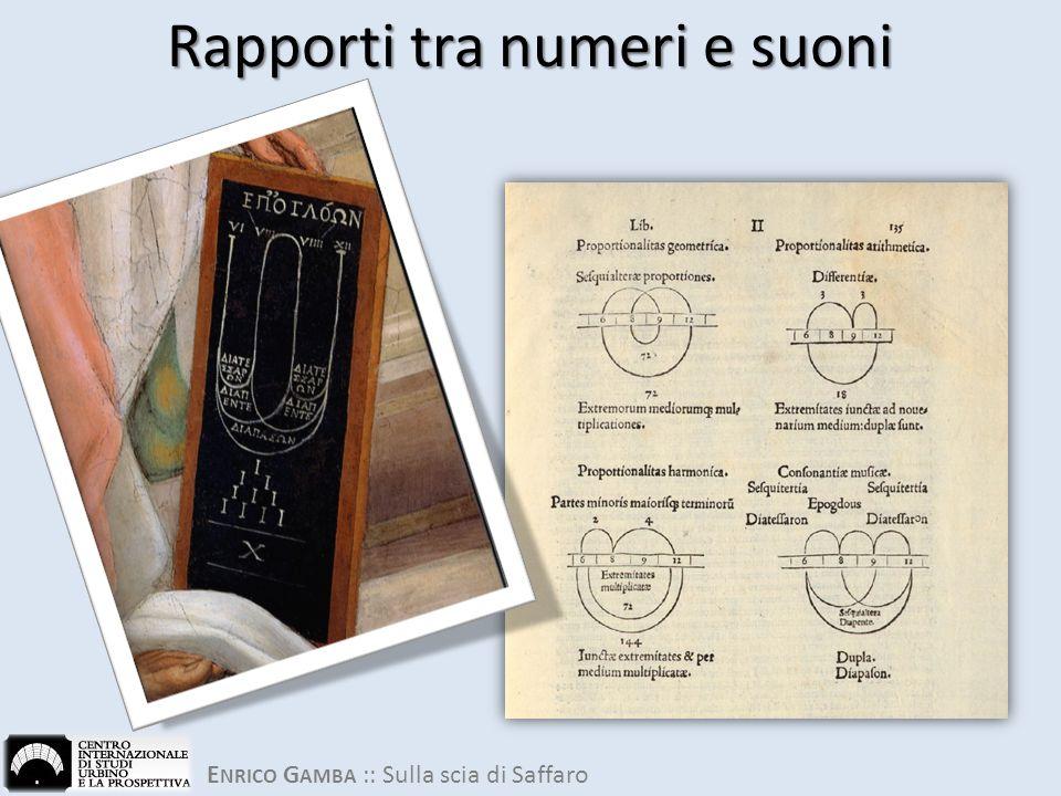 E NRICO G AMBA :: Sulla scia di Saffaro Rapporti tra numeri e suoni