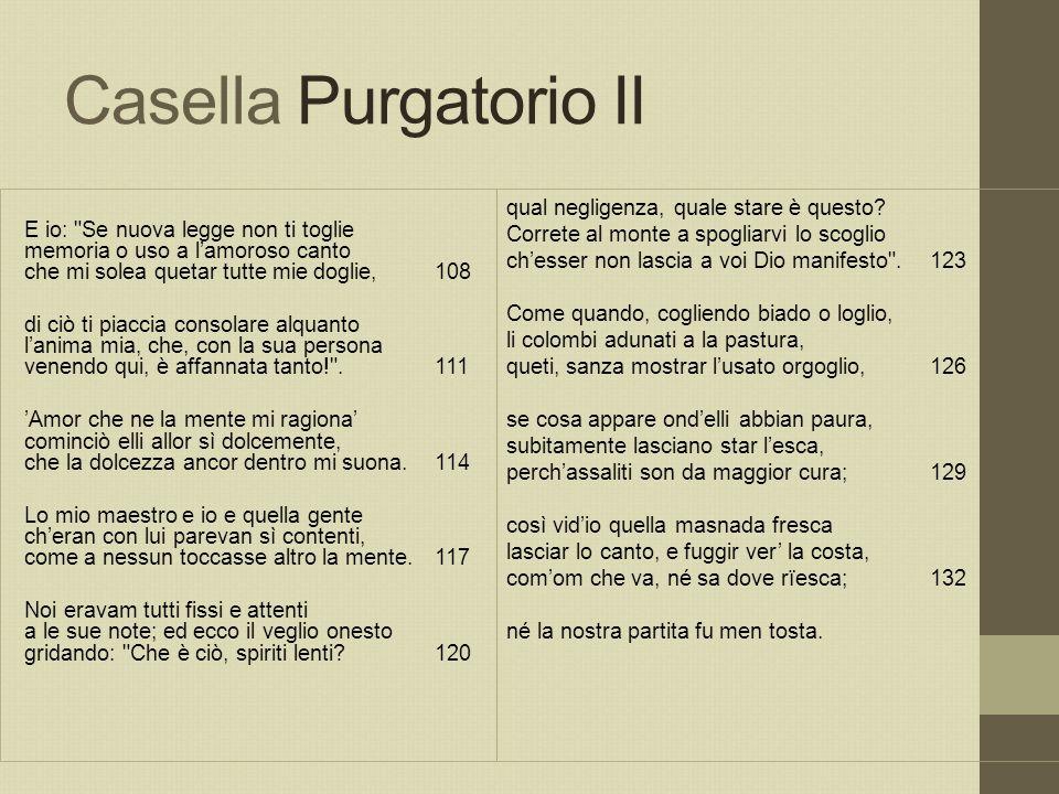 Casella Purgatorio II E io: