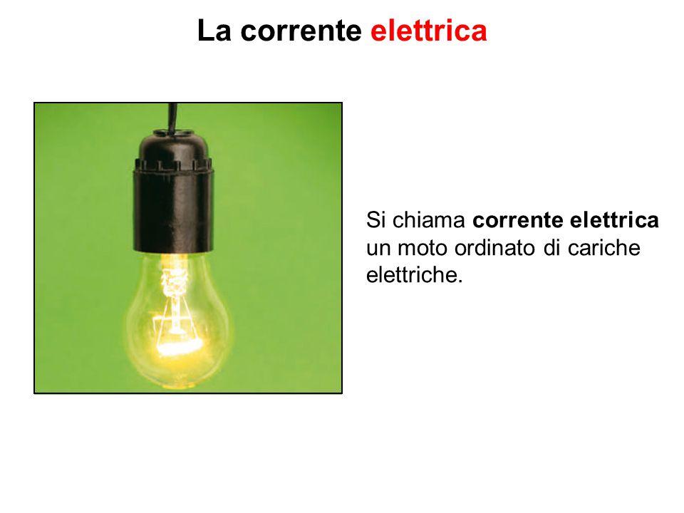 Si chiama corrente elettrica un moto ordinato di cariche elettriche.