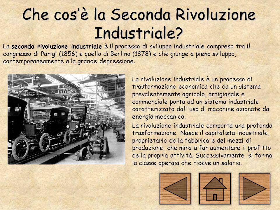 Che cos'è la Seconda Rivoluzione Industriale.