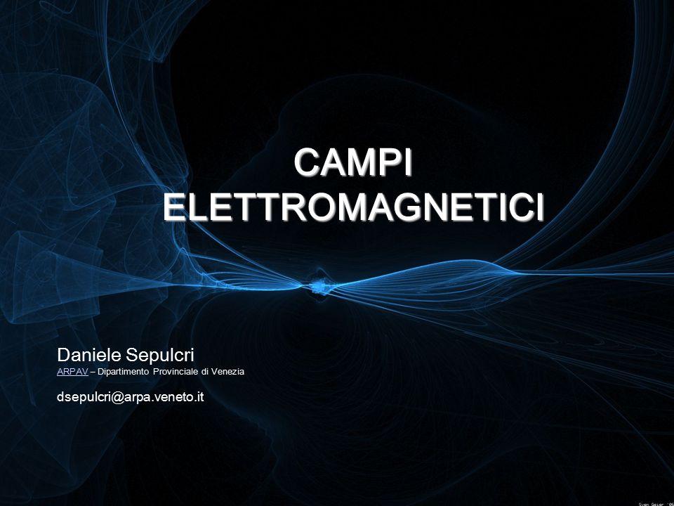 CAMPI ELETTROMAGNETICI Daniele Sepulcri ARPAV ARPAV – Dipartimento Provinciale di Venezia dsepulcri@arpa.veneto.it