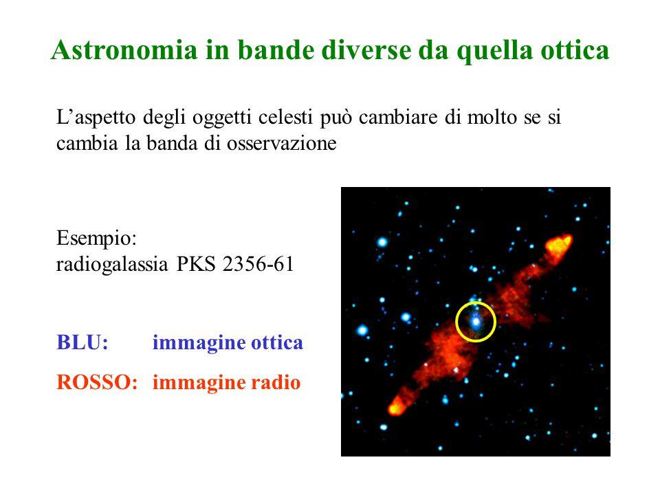 Astronomia in bande diverse da quella ottica L'aspetto degli oggetti celesti può cambiare di molto se si cambia la banda di osservazione BLU:immagine