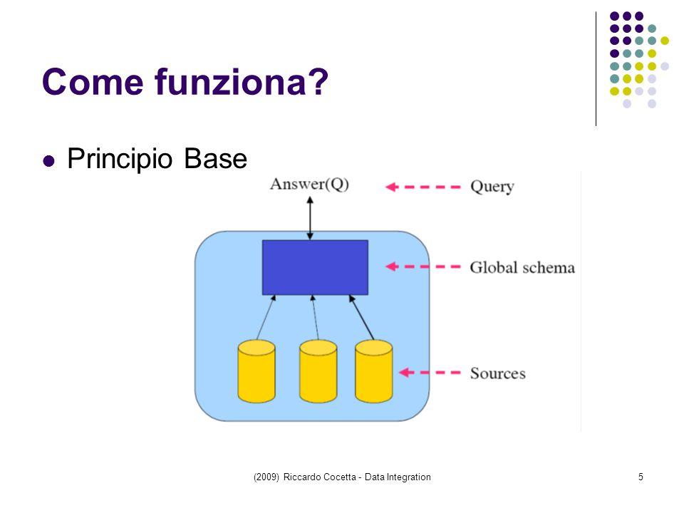 (2009) Riccardo Cocetta - Data Integration5 Come funziona Principio Base