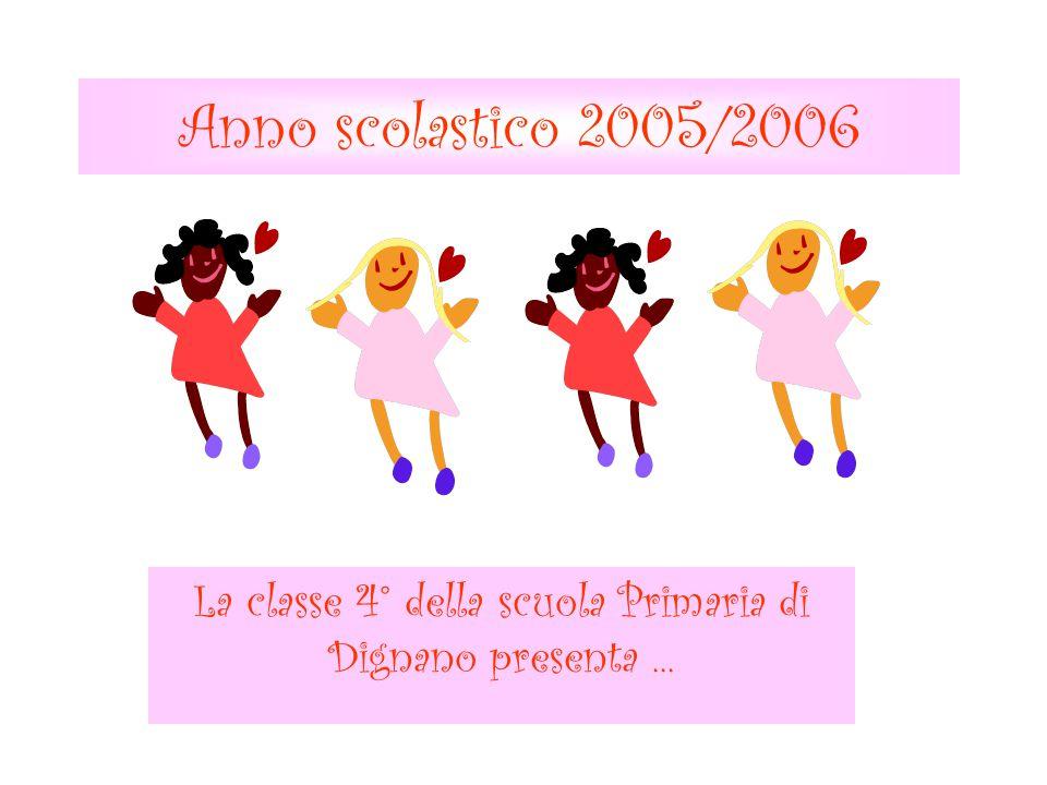 Anno scolastico 2005/2006 La classe 4° della scuola Primaria di Dignano presenta...